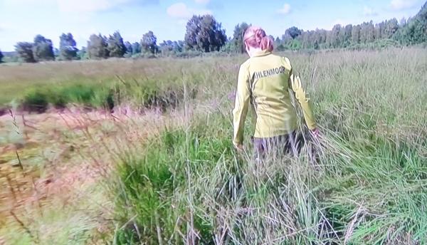ZDF im Mooriz Ahlenmoor. Filmen während einer Moorbahnfahrt und im Ahlenmoor.